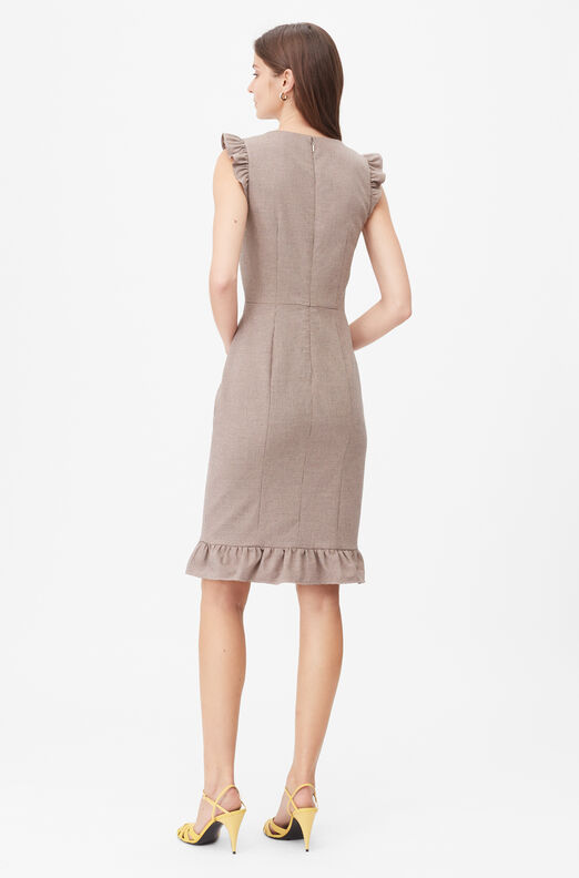 Tailored Houndstooth Suiting Dress