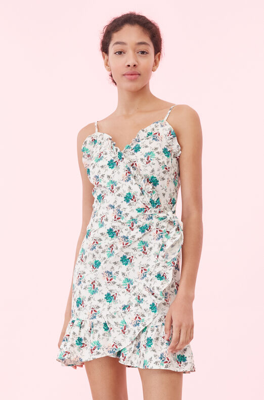 Carnation Fleur Wrap Dress