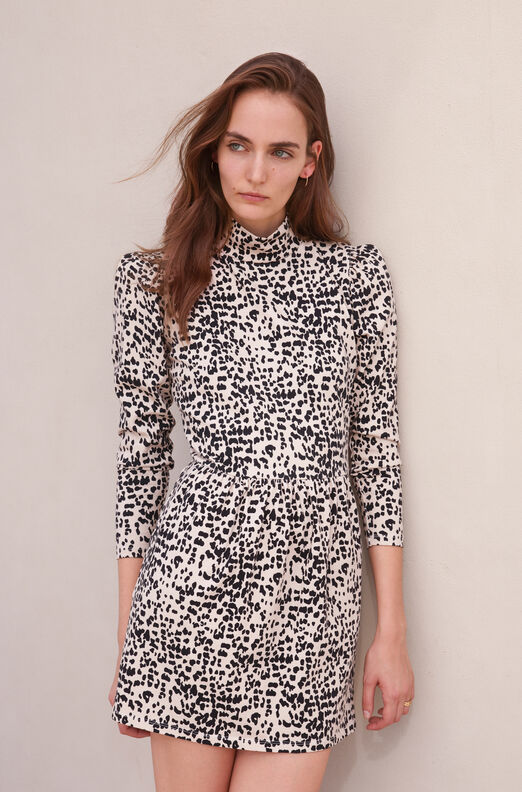 La Vie Dot Print Jersey Dress