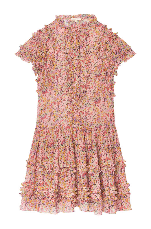 Margo Floral Silk Cotton Voile Dress
