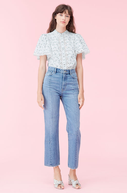 La Vie Poppy Fields Poplin Top