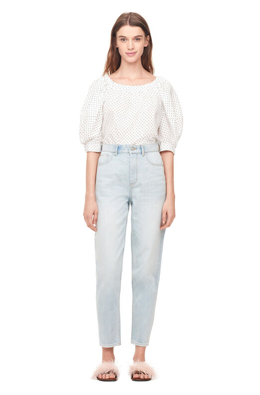 La Vie Tapered Jean - Pale Blue Wash