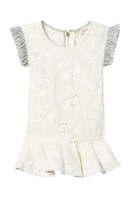 Magic Garden Eyelet Peplum Top