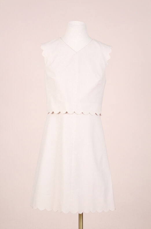 ReCollectScalloped Suiting Dress