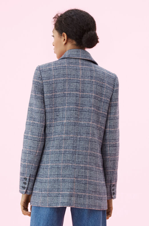 La Vie Doubleface Wool Plaid Coat