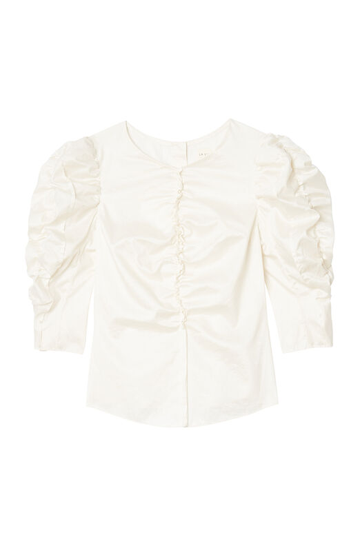 La Vie Ruched Sateen Top