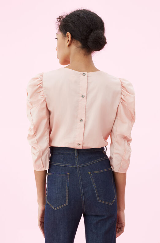 La Vie Washed Sateen Ruched Top