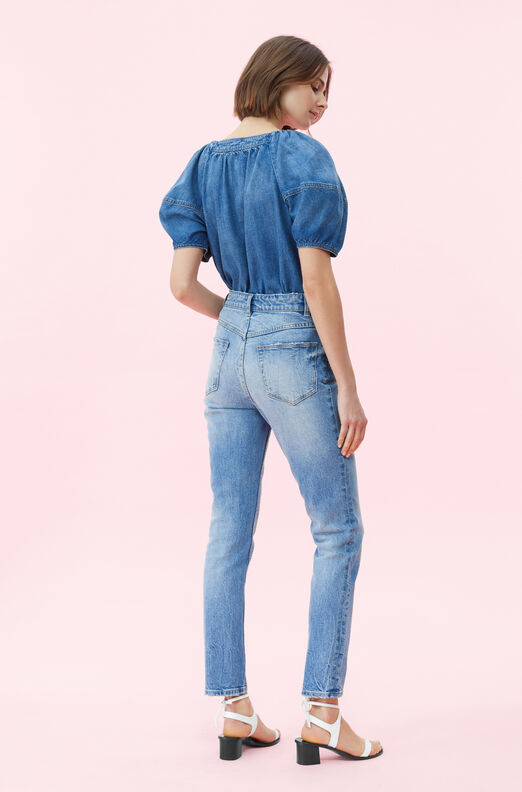 La Vie Drapey Denim Top