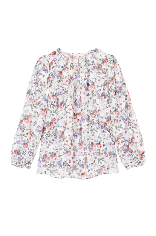 Ruby Floral Silk Jacquard Top