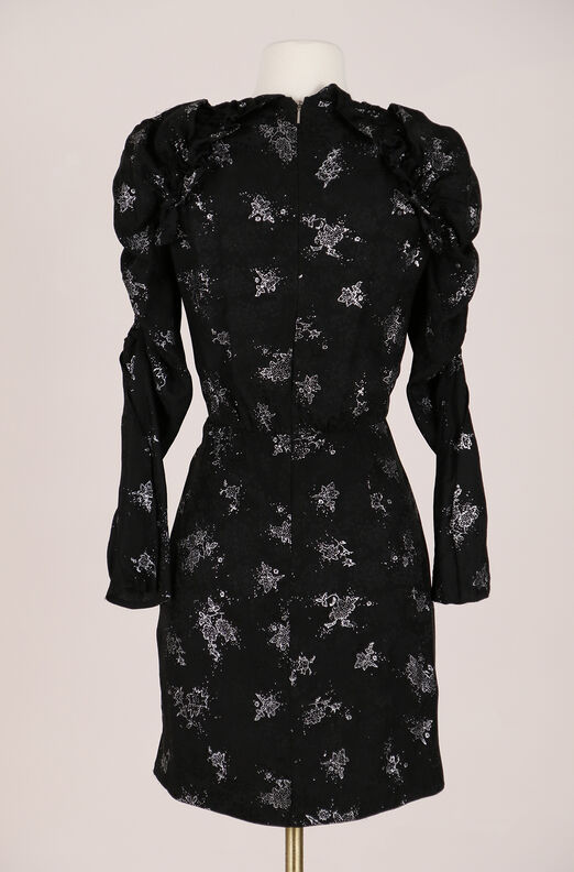 ReCollect Glitter Print Silk Dress