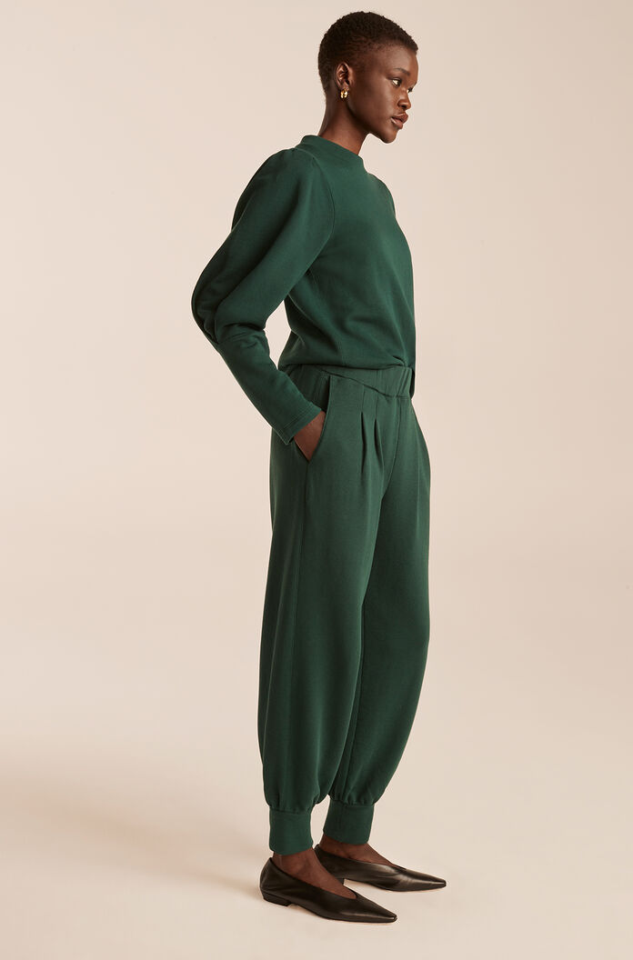 Knit Pull On Pant, Emerald, large