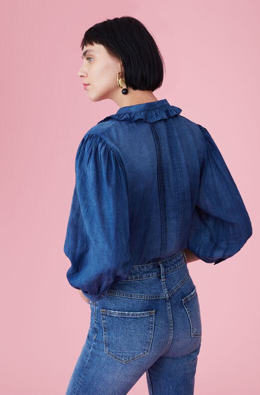 La Vie Tissue Denim Top