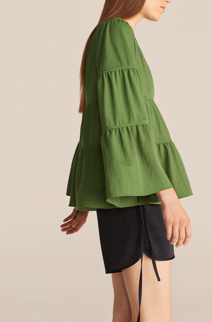 Tiered Pique Top, Cypress, large