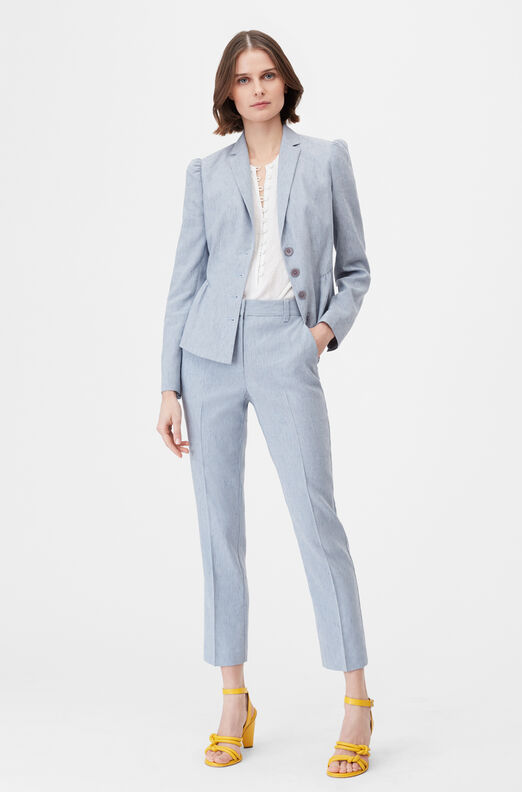 Tailored Stretch Linen Blend Pant