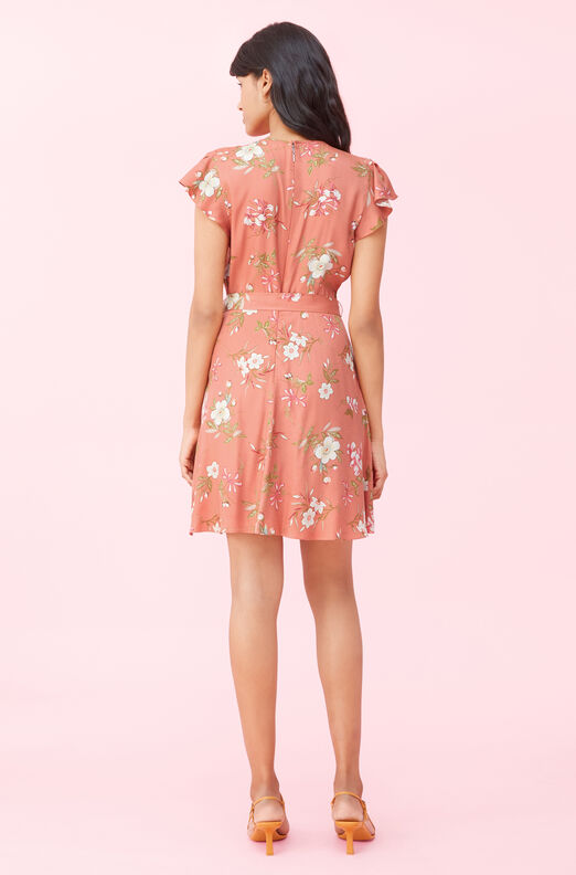 Lita Floral Silk Twill Dress