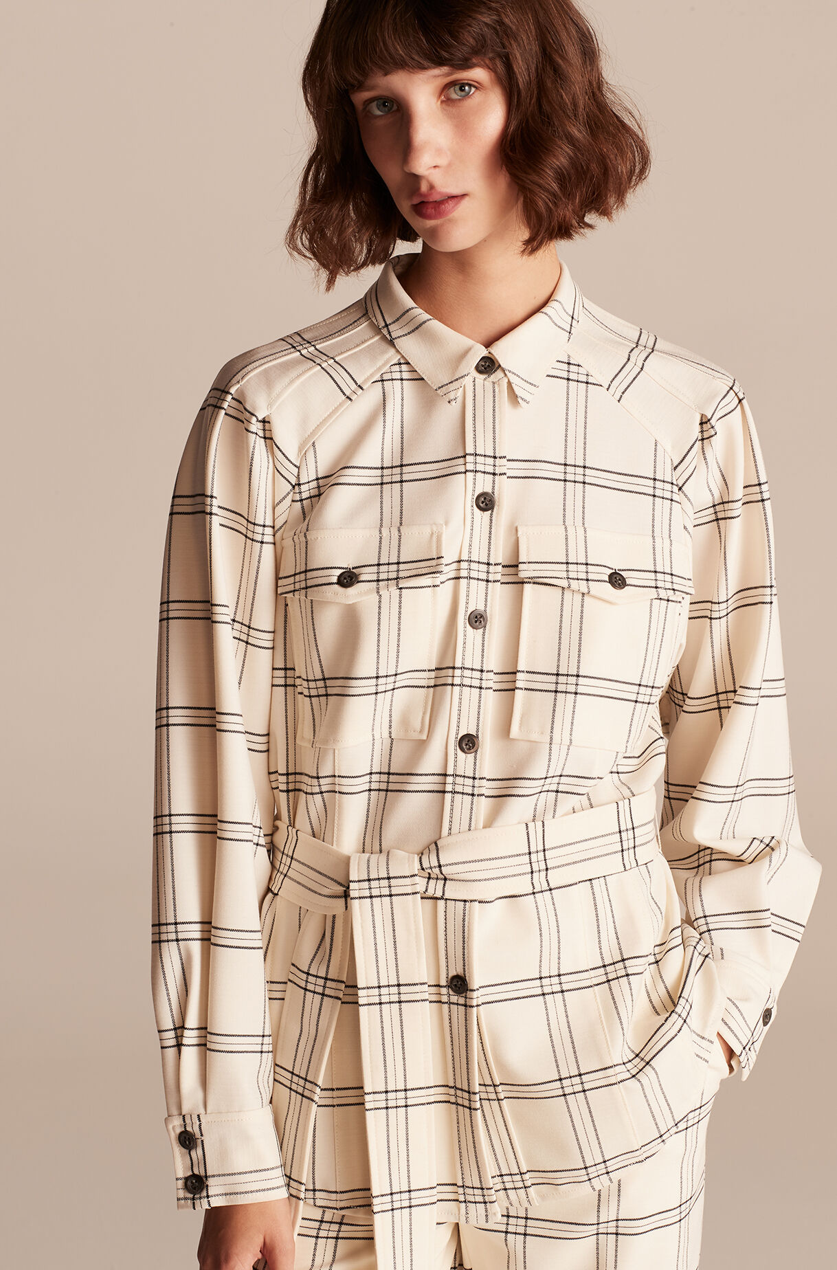 Emery Plaid Jacket, , large