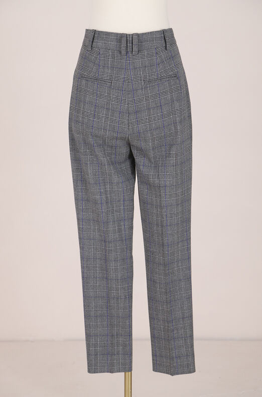 Recollect Checked Pleat Front Pant