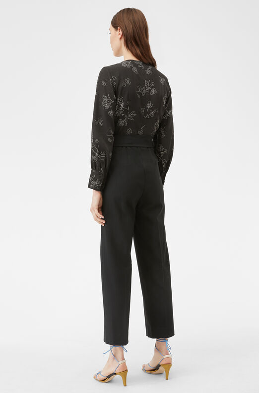 Tailored Silhouette Floral Jumpsuit, Black Combo, large