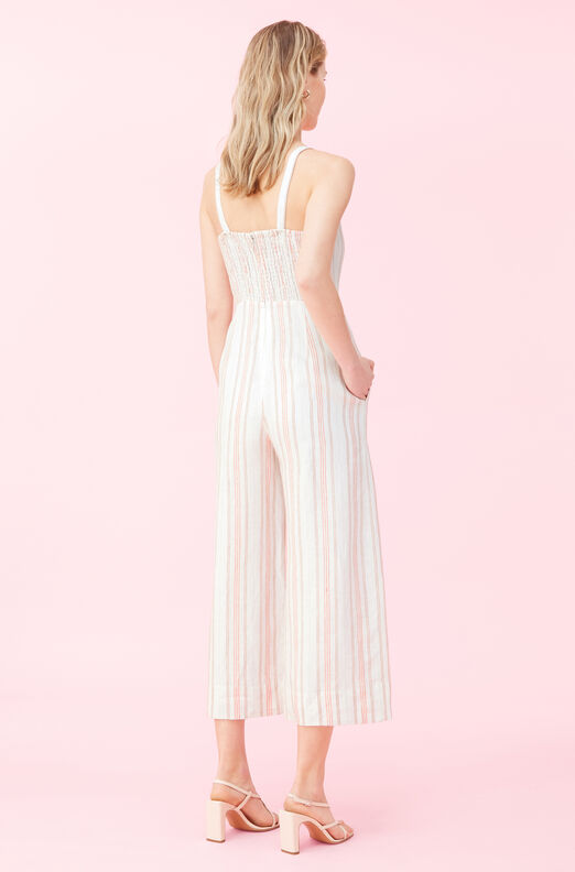 Yarn Dyed Stripe Jumpsuit