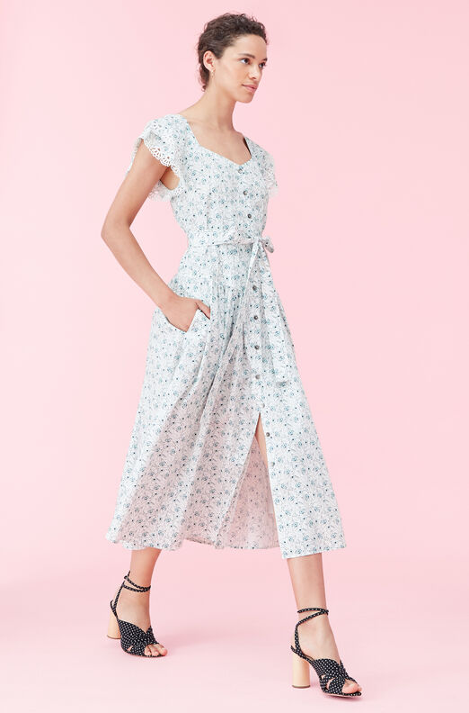 La Vie Poppy Fields Poplin Dress