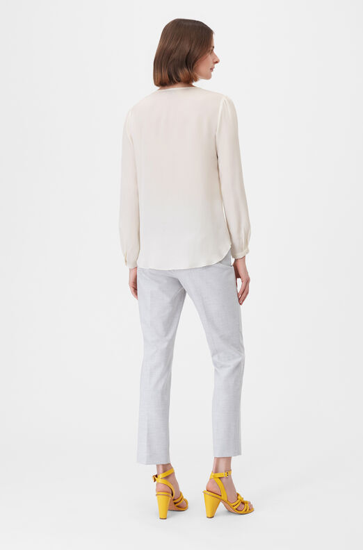 Tailored Silk Double Georgette Wrap Top