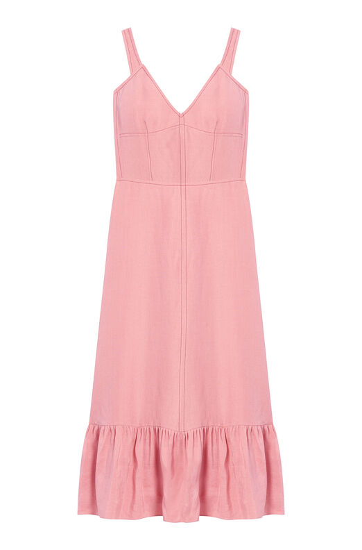 Slub Linen Slip Dress