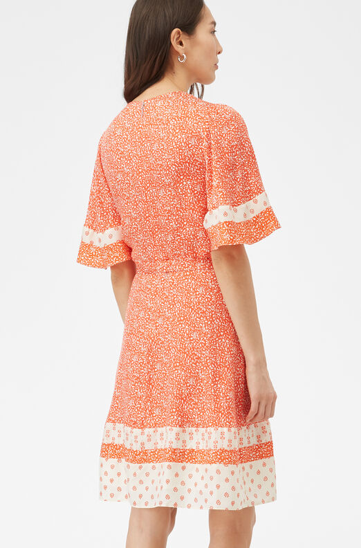 Block Print Mix Silk Jacquard Dress