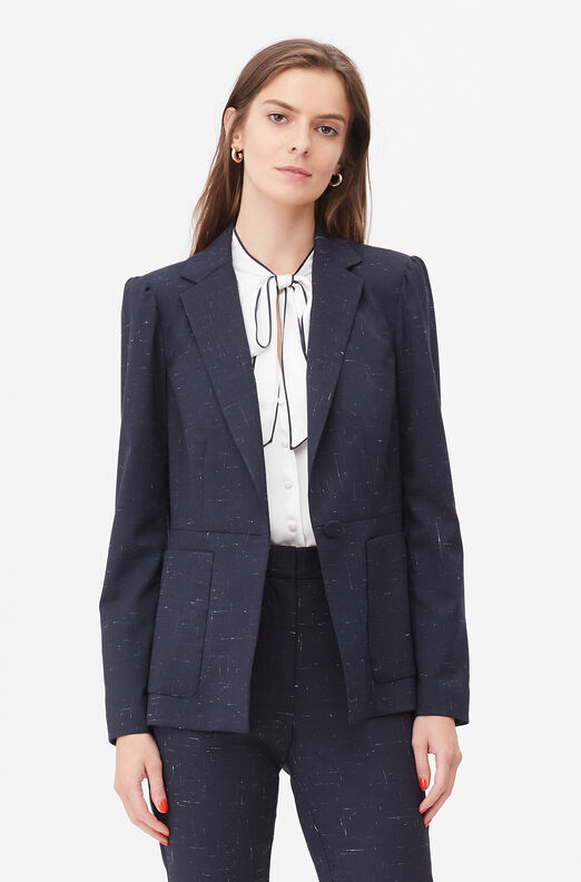 Tailored Cross Hatch Suiting Jacket