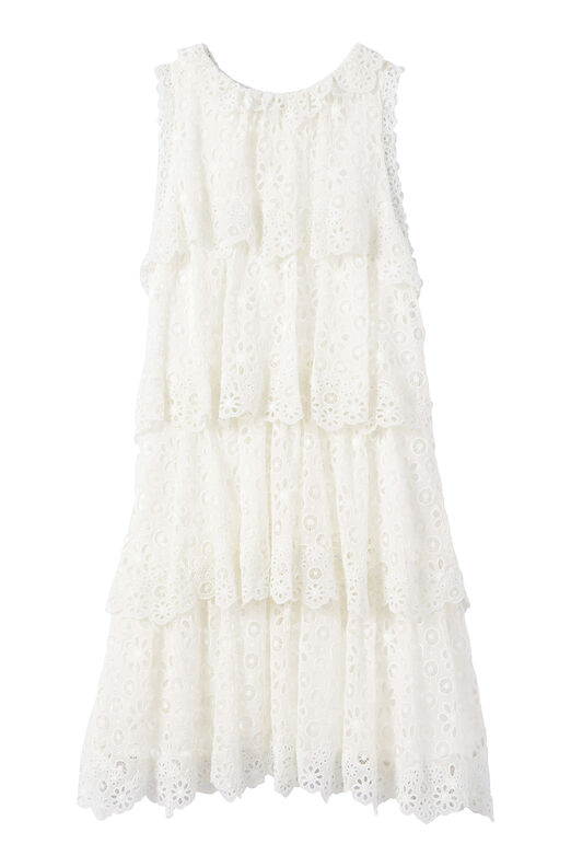 Pinwheel Eyelet Tiered Dress
