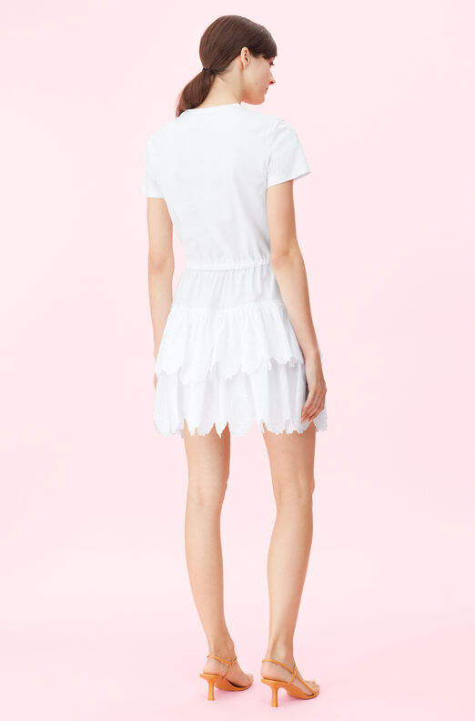 La Vie Mireille Embroidered Jersey Dress