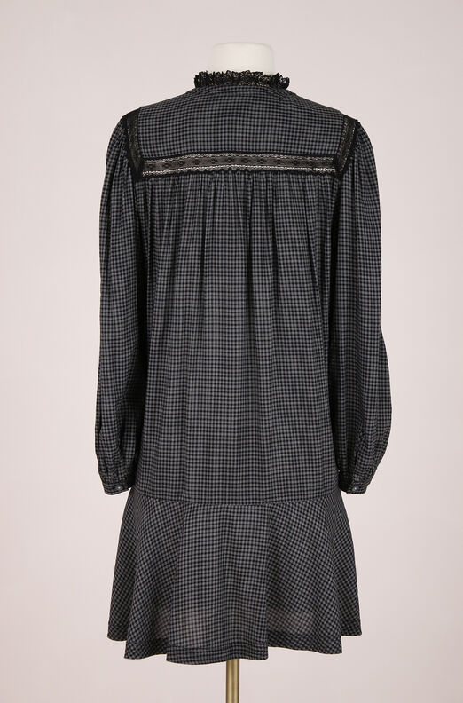 ReCollect Plaid and Lace Dress