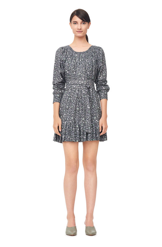 La Vie Adeline Floral Dress - Washed Black Combo