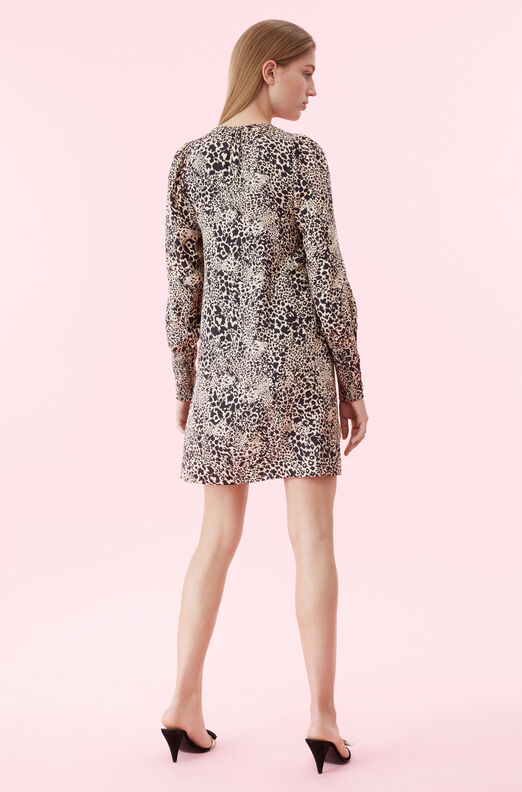 Hidden Leopard Jacquard Dress