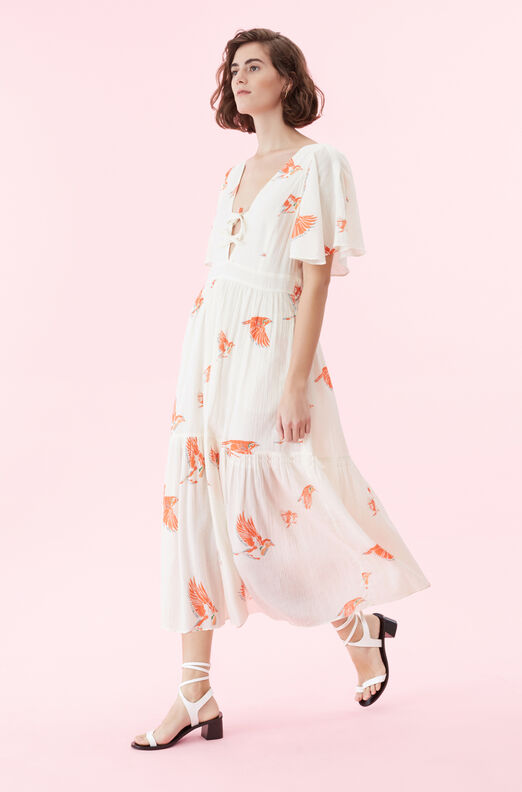 La Vie Birds Print Dress