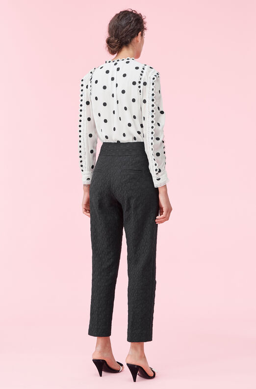 Dot Embroidered Top