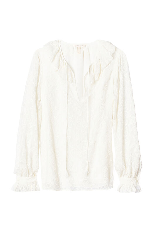 Textured Vines Embroidered Top