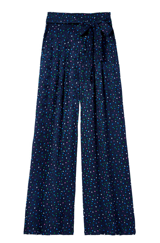 Speckled Dot Silk Jacquard Pant