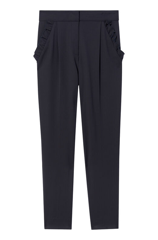 Spring Suiting Ruffle Pant