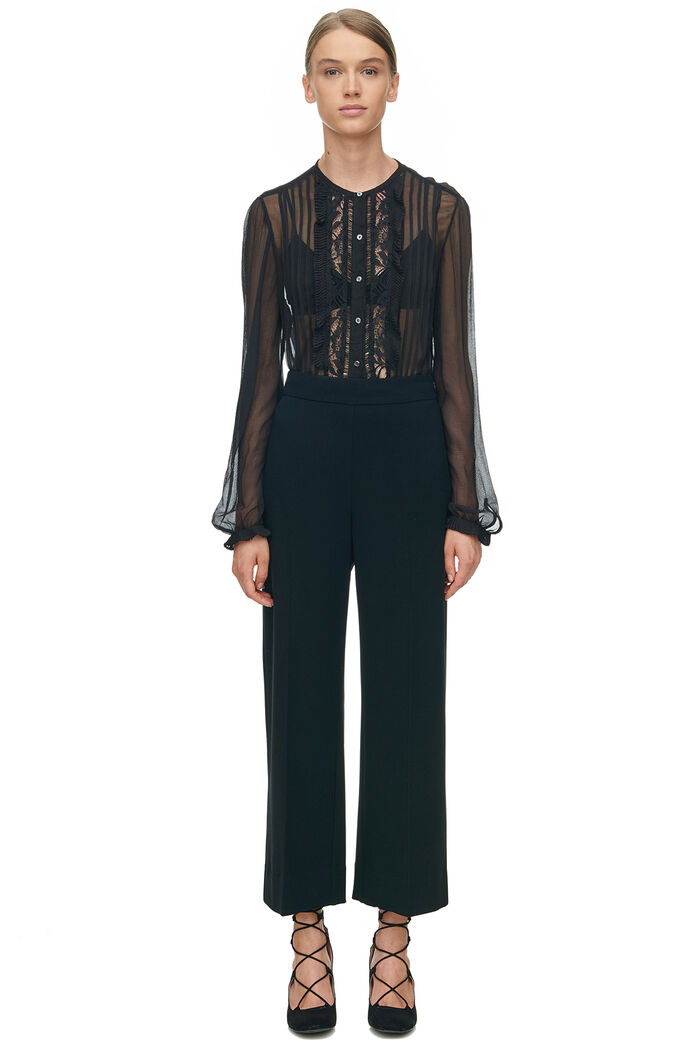 Moss Crepe Cropped Pant - Black