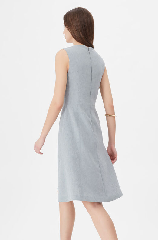 Tailored Stretch Linen Dress