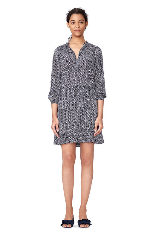 Static Print Shirtdress - Dark Navy Combo