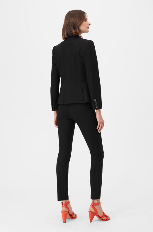 Tailored Stretch Modern Suiting Jacket, Black, large