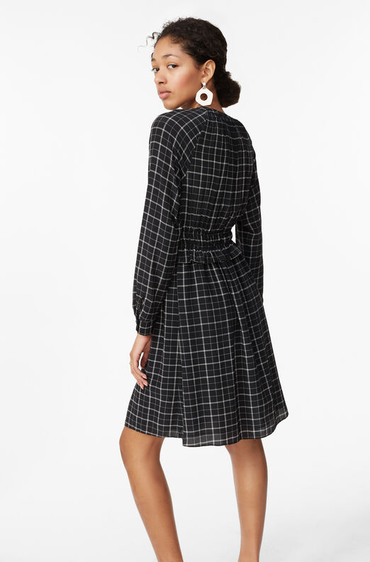 Plaid Silk Dress