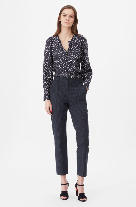 Tailored Pearl Dot Jacquard Top