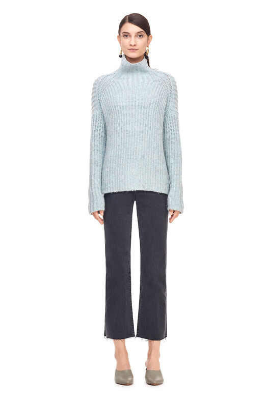 La Vie Rib Turtleneck Pullover - Tourmaline Heather