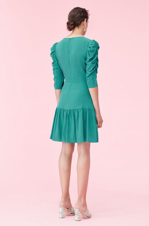 Silk Charmeuse Ruched Dress