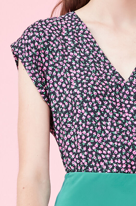 Wild Rose Silk Twill Top