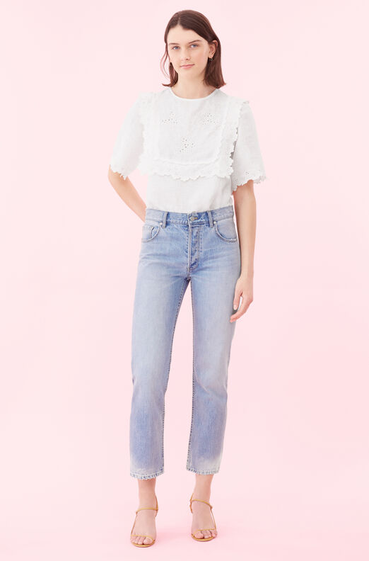 La Vie Embroidered Linen Top