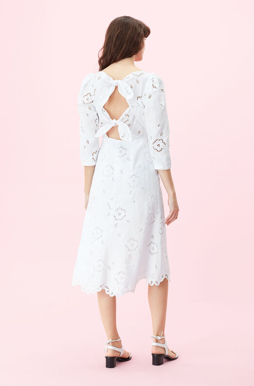 Terri Embroidered V-Neck Dress