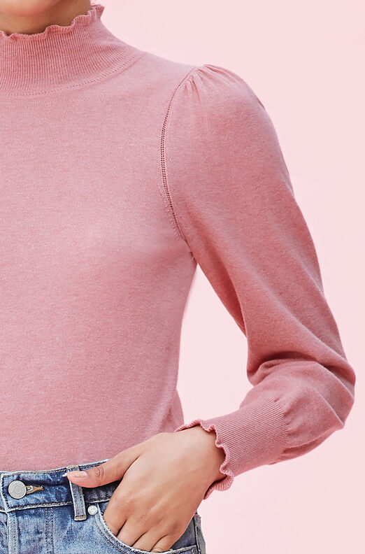 La Vie Cozy Cotton Turtleneck Pullover